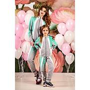 Спортивные костюмы для мамы и дочки с оригинальной комбинацией контрастов (2 расцветки) фото
