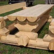 Садовая мебель из оцилиндрованного бревна фото