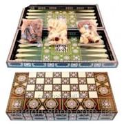 Игровой набор 3в1 Шахматы,Шашки,Нарды W5008 фото