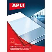 Самоклеящийся Карман APLI Для Формата А4, Неудаляемый, Прозрачные, 220Х305мм 6 шт/уп фото