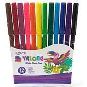 """101225 Фломастеры Yalong YL 18010-12 в наборе ( 12 шт./ 12 цветов ) """"Попугай"""" карт.кор. (уп.1 шт.) фото"""