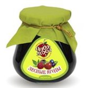 Варенье из лесных ягод с фирменной символикой фото