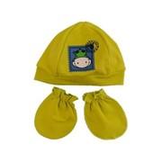 3-126-11- Комлект ясельный шапочка+рукавички фото
