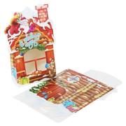 """Коробка для новогоднего подарка картонная """"Домик и Дед Мороз"""", 22х15х7 см (арт. 10919229) фото"""