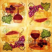 Салфетка для декупажа Рисованный виноград оранжевый фото