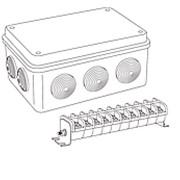 Коробка распределительная Tyco 67055 140×200×75 мм 10 вводов, клеммный блок КБ-63 (10 клемм) фото