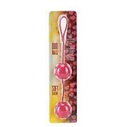 Красные вагинальные шарики с сердечками DUO BALLS фото
