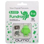 Флешка 8Гб USB 2.0 - Qumo - Fundroid карта и картридер - зелёная фото