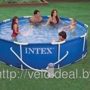 Бассейн каркасный Intex 28202 (56999) 305х76 см Metal Frame Pool Set с фильтр-насосом фото