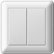 Выключатель W59 2кл скр. 16А (бел.) фото
