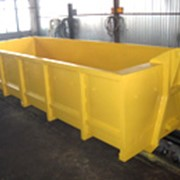 Роликовый металический контейнер с захватом Крюк без крышки 6х2,1х1,2 (LxBxH) фото