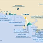 Карта отелей - Санья Хайнань фото