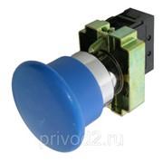 "Кнопка XB2-BC61, ""грибок"", б/фикс, синяя, 1НО контакт фото"
