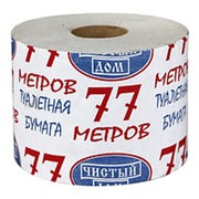 Туалетная бумага 77 Метров Чистый дом 1-сл 1рул (х30) фото