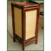 Светильник бамбуковый фото