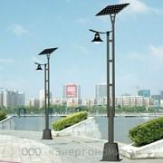 Уличный светодиодный фанарь на солнечных батареях 0065 фото