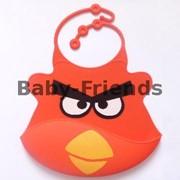 Слюнявчик пластиковый Angry birds фото