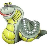 Змеючка Гюрза, копилочка в форме змеи, сувениры из керамики, керамика сувениры, сувениры из керамики купить фото