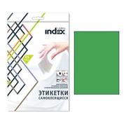 Самоклеящиеся этикетки ф.A4, 210x297; 1 этик. на л., 25 л, зеленый,(INDEX) фото