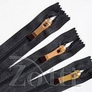 Молния пластиковая, черная, бегунок №73 - 40 см фото