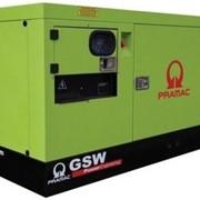 Дизель-генератор Pramac GSW150V ( в кожухе, двигатель VOLVO (Германия), генератор MECC-ALTE (Италия), мощность (104-114кВт, 130-143кВА), АВР(Автоматический ввод резерва), подогрев двигателя фото