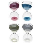 118772 Часы песочные 5 минут Классика 10 см., синий песок фото