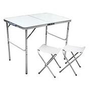 Стол + 2 стула, складные 60*90 пластм+металл (8811) фото