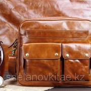 Мужская сумка, кожа, МС002 фото