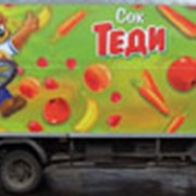 Размещение рекламы на транспортных средствах фото