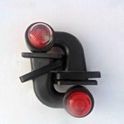 Фонарь габаритный двухцветный (красн.-белый) для прицепа фото