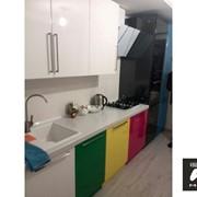 Кухня из пластика А19 фото