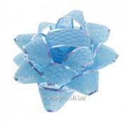 Бант-звезда №7,5 Соты , цвет голубой фото