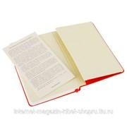 Блокнот Moleskine Classic Pocket, 192 стр., красный, нелинованный фото