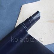 Натуральная кожа для обуви и кожгалантереи синяя арт. СК 1194 фото