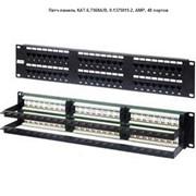 Патч-панель КАТ.6,T568A/B, 0-1375015-2, AMP, 48 портов фото