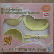 Набор детской эко-посуды из биопластика, 6 предметов фото