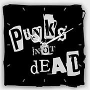 "Настенные часы ""Punk's Not Dead"" фото"