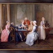 Картина Игра в карты, Гравело, Губерт Франсуа фото