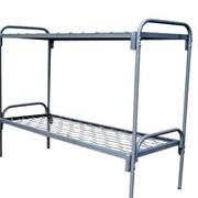 Мебель армейская металлическая. Кровать двухъярусная металлическая фото