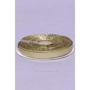 Лента парча 6 мм, золото (рул 22 м) фото