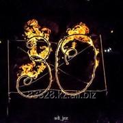Огненные буквы, лого и инсталляции. Огненное сердце и цветы. Факела, чаши, огненные дорожки. фото