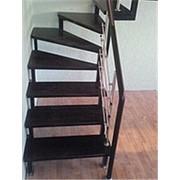 Лестницы из дуба и металла фото