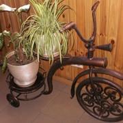 Подставка под цветы «Кованый велосипед» фото