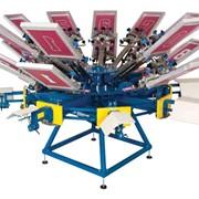Ручной трафаретный карусельный станок для печати номеров Abacus, M&R фото