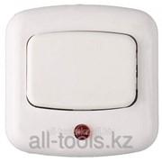 Кнопка Светозар для звонка, с индикацией включения, цвет белый, 220В Код:58303 фото