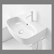 Kerasan Nolita Раковина подвесная/накладная 60х45 см, с 1 отв под смеситель, цвет белый глянцевый фото