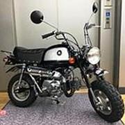 Мопед мокик Honda Monkey Gorilla рама AB27 гв 2000 Minibike багажник пробег 485 км темно синий серебристый фото