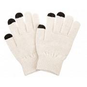 Перчатки для сенсорных экранов - 3 пальца, Белый фото