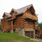 Деревянные дома из дикого сруба фото