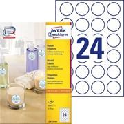 Этикетки Avery Zweckform для маркировки,круглые 2400 штук,100 листов, d 40 мм, I-J+L+K+CL, удаляемые Белый фото